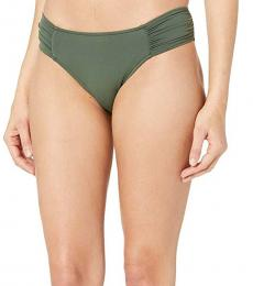 Sea Folly Forest Ruched Side Retro Bottoms