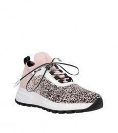 Prada Pink Side Logo Sock Sneakers