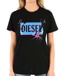 Diesel Black Crew Neck Logo Tee