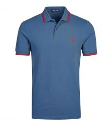 Fred Perry Blue Contrast Collar Polo