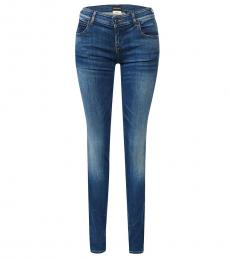 Emporio Armani Blue Slim Fit Mid Rise Jeans