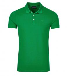 Emporio Armani Green Regular Fit Logo Polo