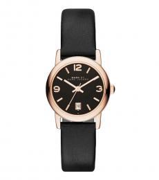 Marc Jacobs Black Farrow Logo Watch