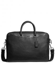 Coach Black Beckett Slim Large Briefcase Bag