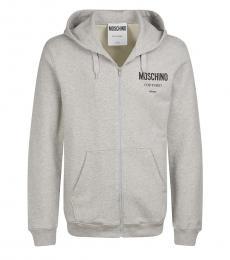 Moschino Light Grey Front Logo Jacket
