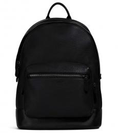 Coach Black West Large Backpack