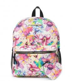 Betsey Johnson Multicolor Floral Medium Backpack