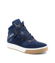 Bikkembergs Blue Balkan Hi Top Sneakers