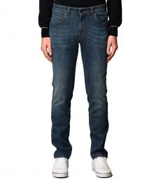 Fay Blue Stretch Cotton Denim Jeans