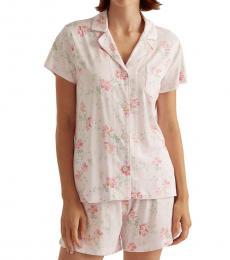Ralph Lauren Pink Floral Floral Boxer Pajama Set