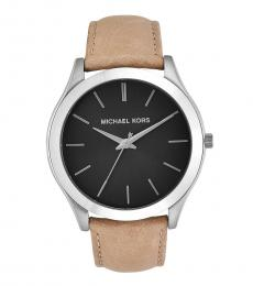 Michael Kors Taupe Slim Runway Watch