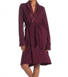 UGG Dark Purple Solid Bathrobe