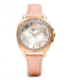 Silver Dial Pink Starp Watch
