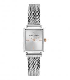 BCBGMaxazria Silver Mesh Bracelet Watch