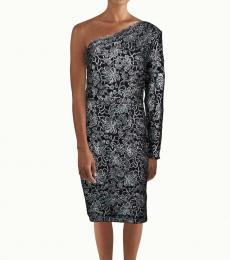 Black Floral Mini Party Dress