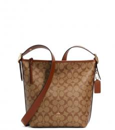 Khaki Val Large Crossbody Bag