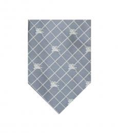 Burberry Grey Logo Check Tie