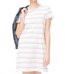 J.Crew Multi Color Short-Sleeve T-Shirt Dress