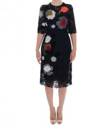 Dolce & Gabbana Black Floral Lace Sicily Dress