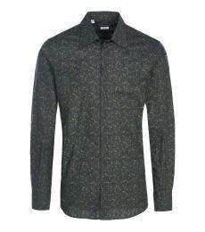 Dark Grey Allover Printed Shirt