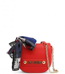 Love Moschino Red Scarf Mini Crossbody