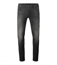 Moschino Dark Grey Back Logo Jeans