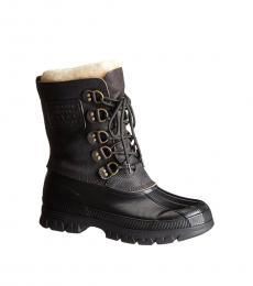 Ralph Lauren Black Grey Longhirst Hiking Boots