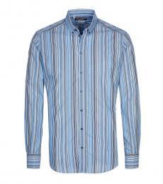 Blue Allover Striped Shirt