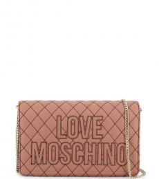 Love Moschino Pink Cross-Stitch Small Crossbody