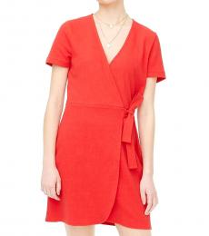 J.Crew Orange Wrap Dress