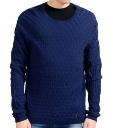 Versace Collection Blue Crewneck Sweater