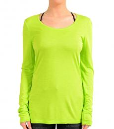Green Crewneck Long Sleeve Top
