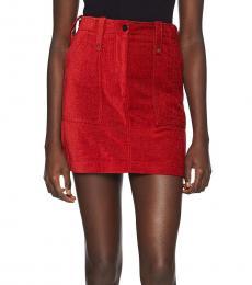 McQ Alexander McQueen Rust Mini Skirt