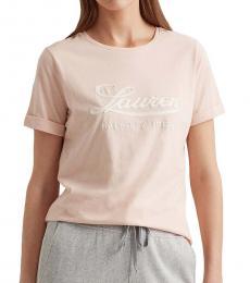 Ralph Lauren Light Pink Logo Cotton Tee