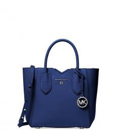 Michael Kors Blue Sapphire Mae Small Satchel