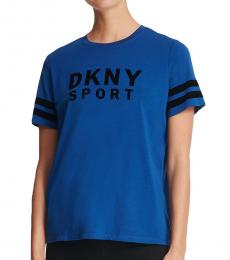 DKNY Deep Ocean Logo Cotton-Blend Tee