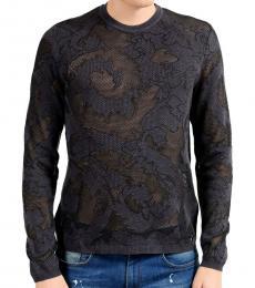 Versace Collection Grey Crewneck Light Sweater