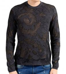 Versace Collection Grey Crewneck Light Sweater