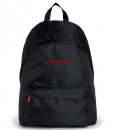 True Religion Black/Red Bracket Large Backpack