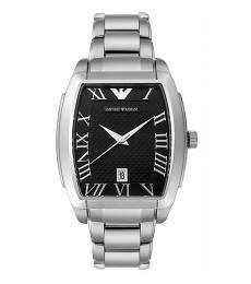 Emporio Armani Silver Tonneau Watch