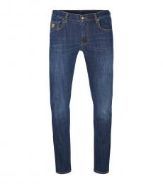 Moschino Dark Blue Back Teddy Jeans