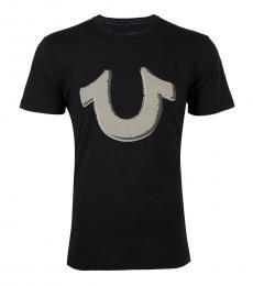 Black Pop Art Horseshoe T-Shirt