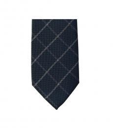 Michael Kors Dark Green Classic Striped Slim Silk Tie