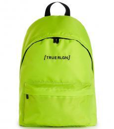True Religion Neon Green Bracket Large Backpack