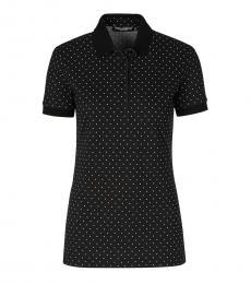 Dolce & Gabbana Black Polka Dot Polo
