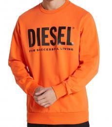 Diesel Orange Gir-Division Sweatshirt