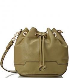 Khaki Fiona Small Bucket Bag