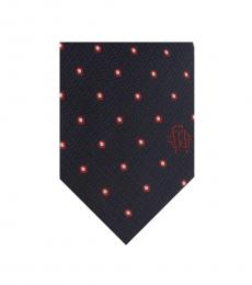 Black Geometric Polka Dot Tie