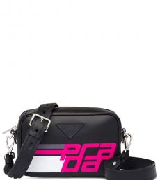 Black/Fuchsia City Small Crossbody
