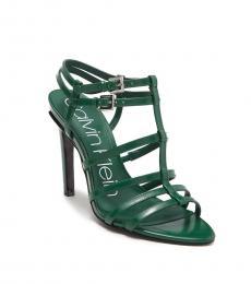 Emerald Green Gili Box Heels